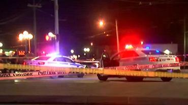 Policja na miejscu strzelaniny w Dayton, Ohio.