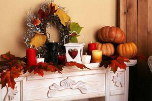 Jesienne dekoracje do mieszkania - naczynia, oświetlenie, tekstylia