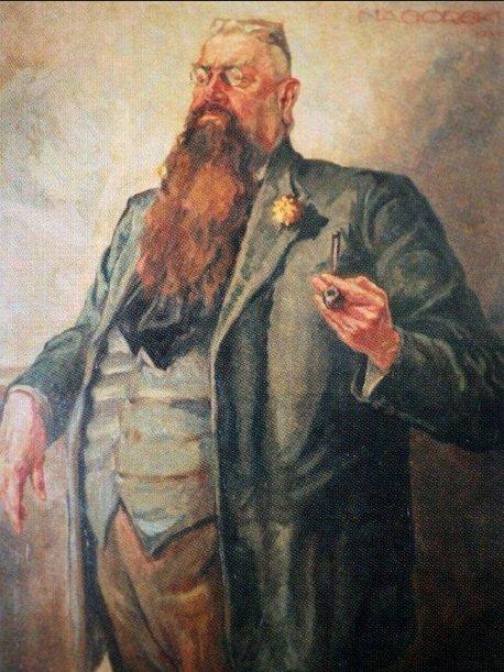 Portret Franca Fiszera namalowany przez Juliusza Nagórskiego