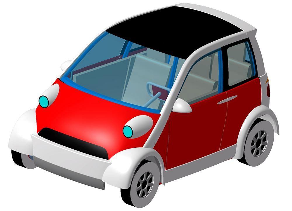 Projekt karoserii polskiego samochodu elektrycznego