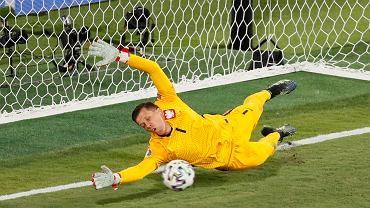 Wojciech Szczęsny w meczu z Hiszpanią.