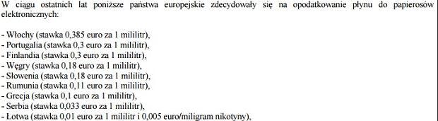 Akcyza na e-papierosy w krajach Europy