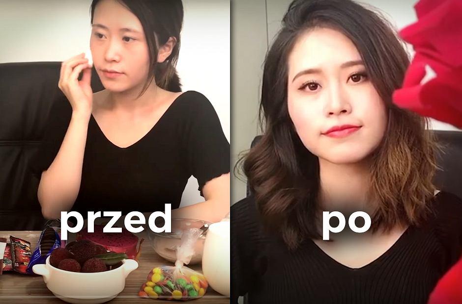 Pełny makijaż wykonany... jedzeniem?