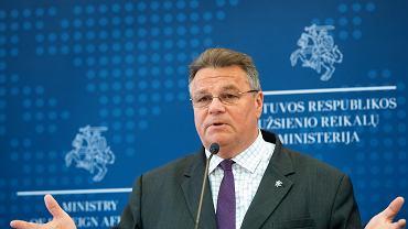Linas Linkevicius, minister spraw zagranicznych Litwy