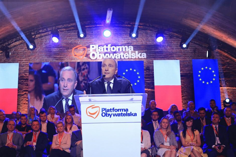 Rada Krajowa PO, przemawia Grzegorz Schetyna
