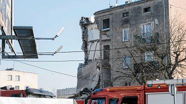 Poznan.  Una casa residencial el 28 de junio de 1956, se produjo una explosión de gas.