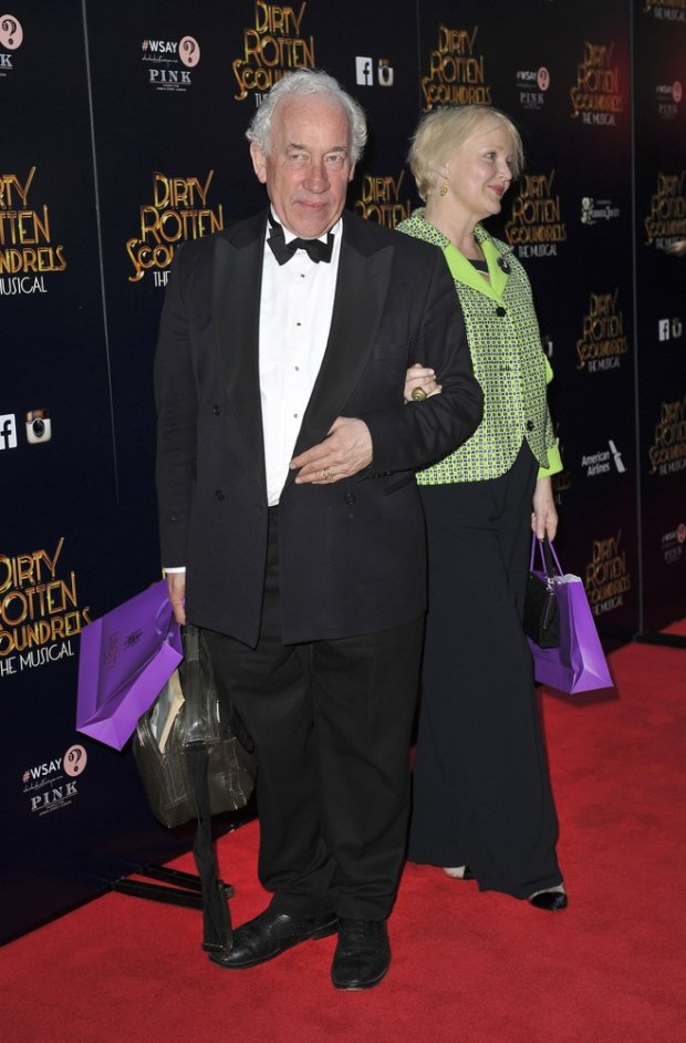 Simon Callow attends the Dirty Rotten Scoundrels - Press Night, at The Savoy Theatre in London. 2nd April 2014.fot. Photoshot/REPORTER