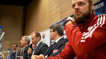 Przemysław Odrobny, bramkarz polskiej reprezentacji hokeja na lodzie