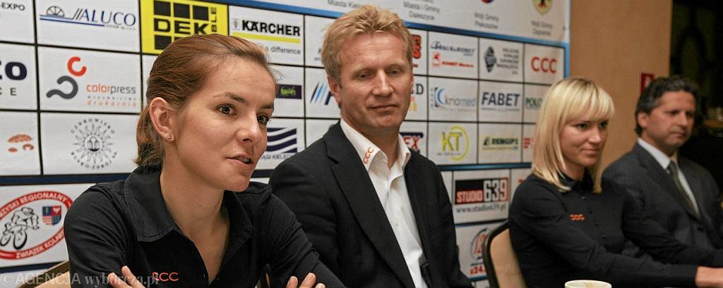 Maja Włoszczowska i Andrzej Piątek