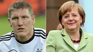 Bastian Schweinsteiger i Angela Merkel