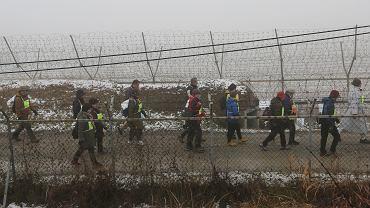 Okolice miejscowości Panmundżom na granicy Korei Północnej i Korei Południowej