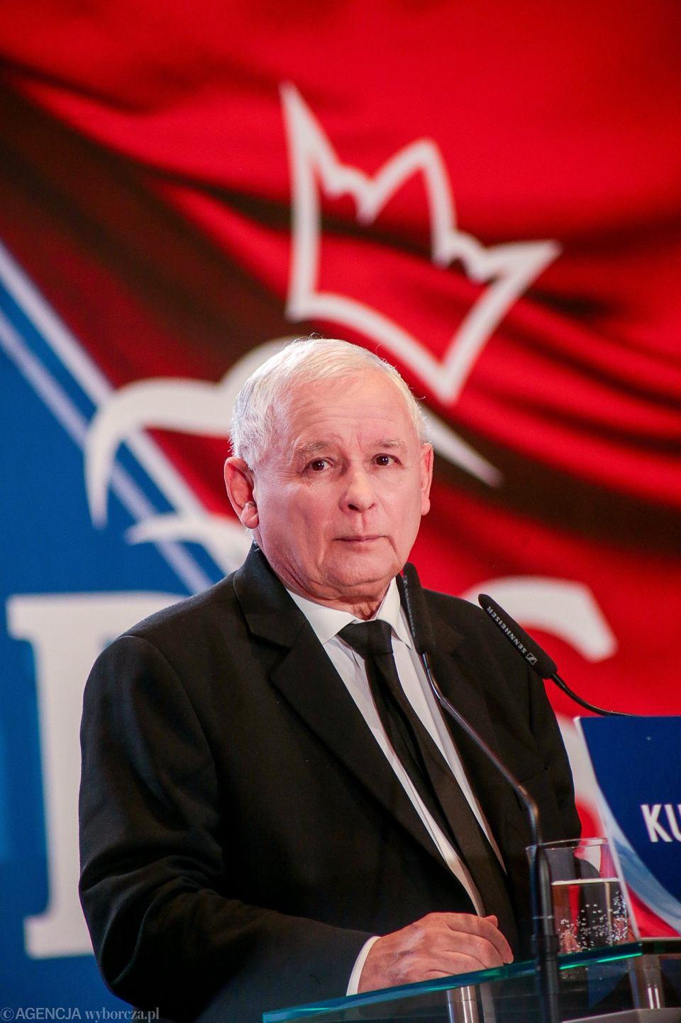 Jarosław Kaczyński na konwencji PiS w Bydgoszczy, 30 września 2018.