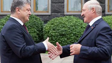 Petro Poroszenko i Aleksander Łukaszenka