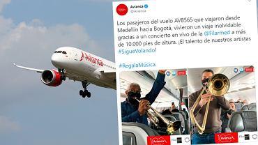 Linia lotnicza skrytykowana za zaproszenie muzyków na pokład
