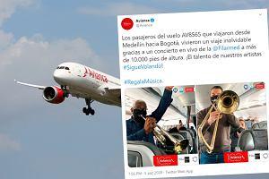Linia lotnicza krytykowana za lekceważenie obostrzeń. Zaprosiła na pokład muzyków
