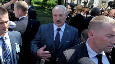 Prezydent Białorusi Aleksander Łukaszenka, Kijów 2014 r.