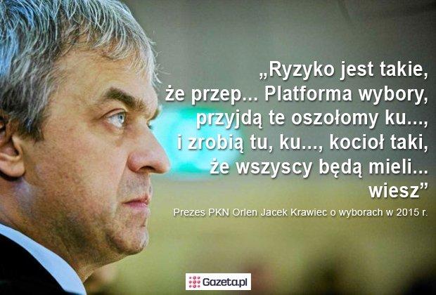 Jacek Krawiec - prezes PKN Orlen