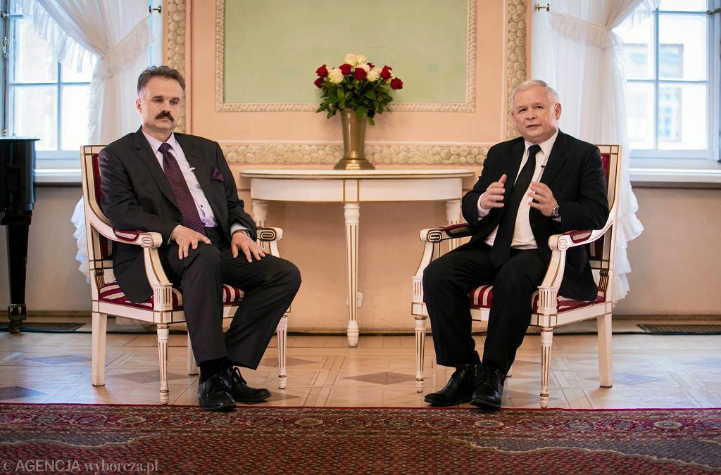 Waldemar Paruch i Jarosław Kaczyński