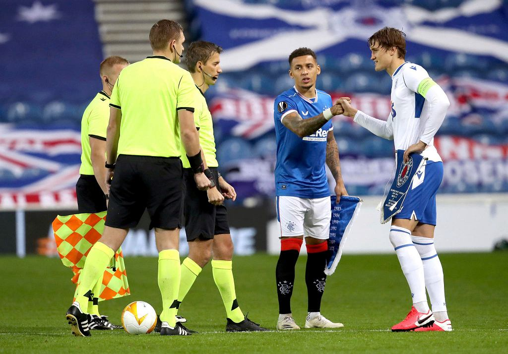 Glasgow Rangers - Lech Poznań. Thomas Rogne