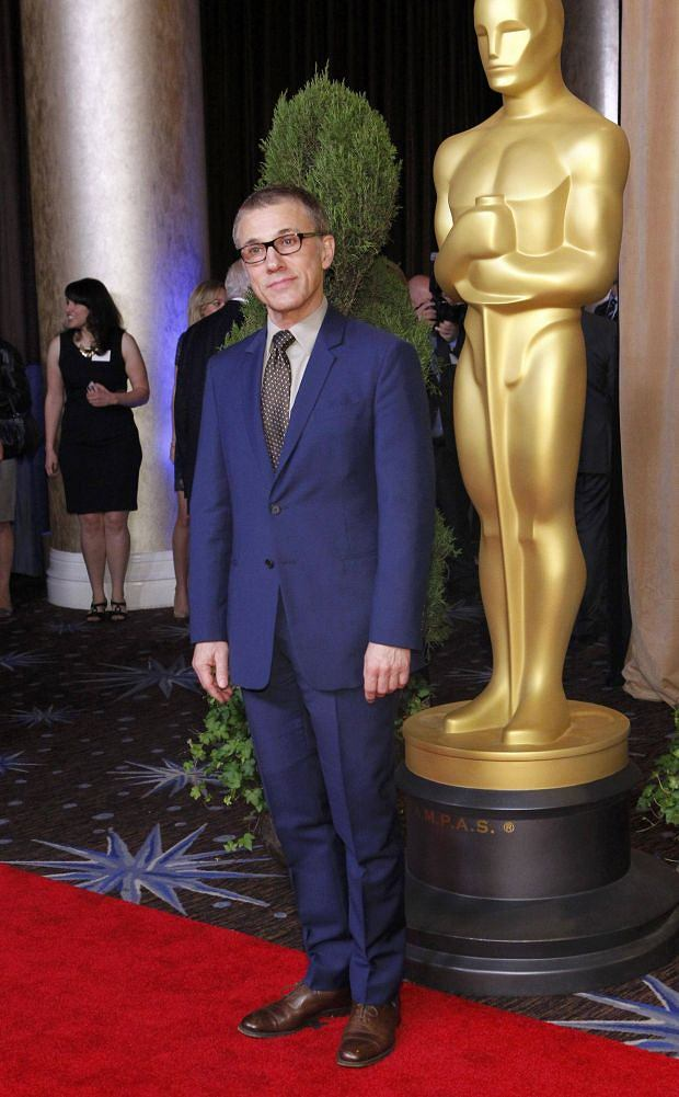 "REFILE - CORRECTING IDENTITY    Actor Christoph Waltz, nominated for best performance by an Actor in a Supporting Role for ""Django Unchained"", poses   at the 85th Academy Awards nominees luncheon in Beverly Hills, California February 4, 2013. REUTERS/Mario Anzuoni (UNITED STATES - Tags: ENTERTAINMENT)"