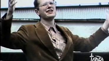 Paweł Adamowicz podczas strajku na UG w 1988 r.