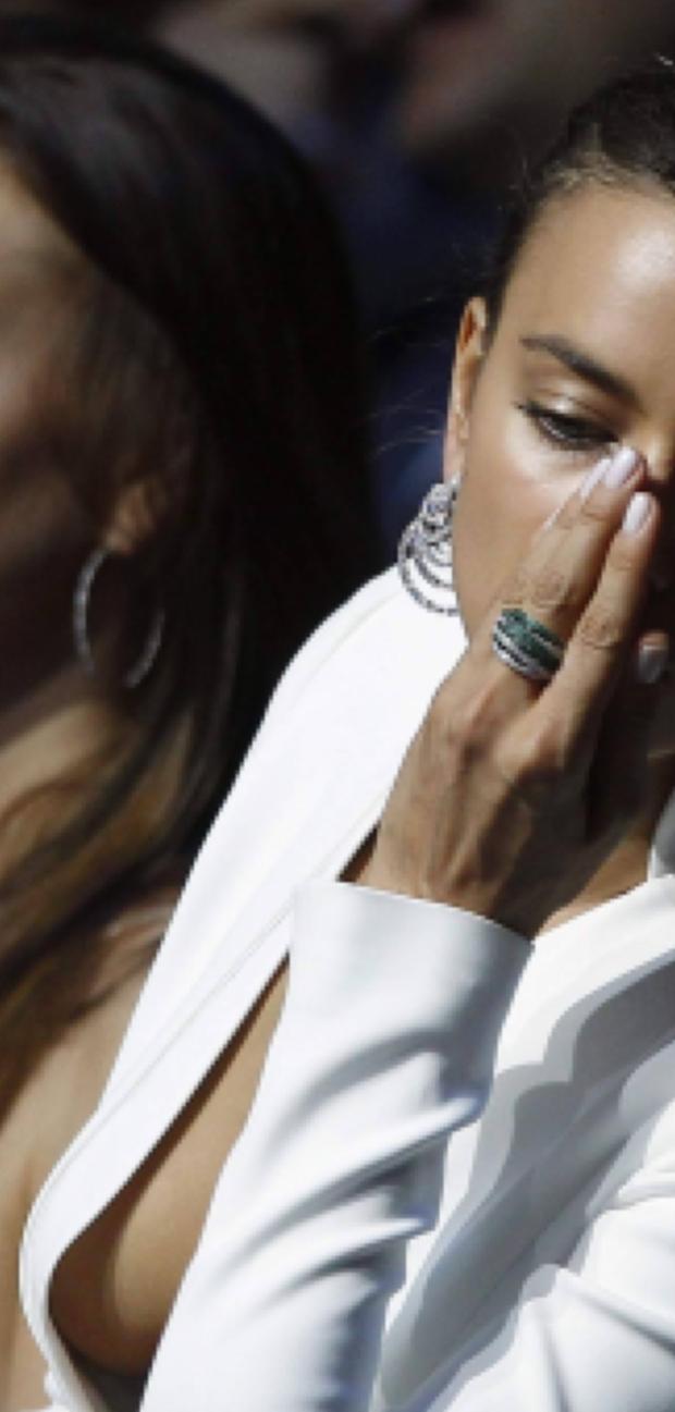 Portugal's Cristiano Ronaldo and his girlfriend model Irina Shayk attend the Champions League draw ceremony at Monaco's Grimaldi Forum in Monte Carlo August 30, 2012.    REUTERS/Eric Gaillard (MONACO - Tags: SPORT SOCCER ENTERTAINMENT)