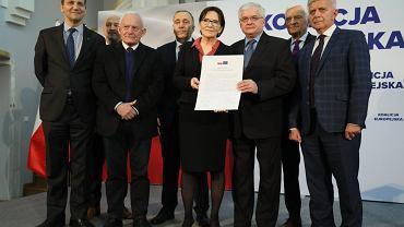 Podpisanie deklaracji 'Koalicja Europejska dla Polski'.