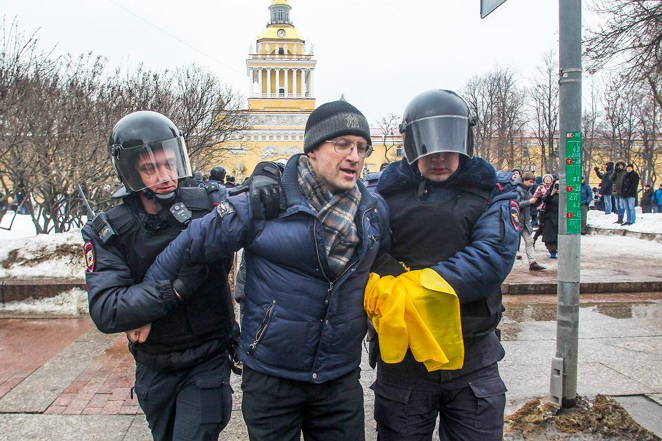 Antyrządowe protesty w Petersburgu, 10 lutego 2019 r.