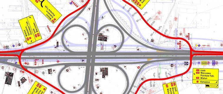 Autostrada A1 - węzeł Piotrków Trybunalski Południe od jutra będzie zamknięty. Na kierowców czeka dziwne rondo