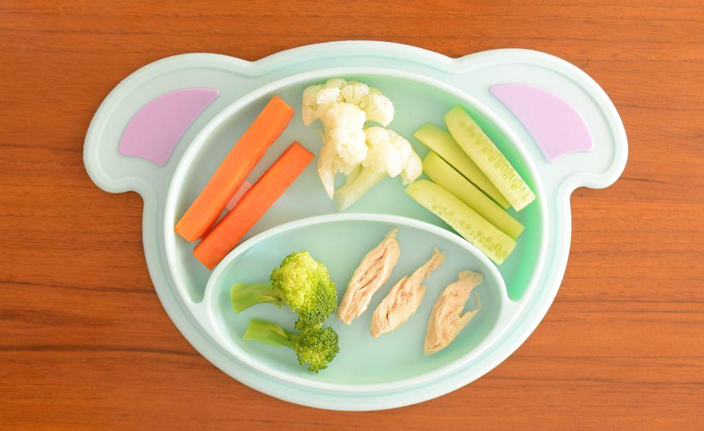 Obiadek dla dziecka przygotowany zgodnie z zasadami BLW
