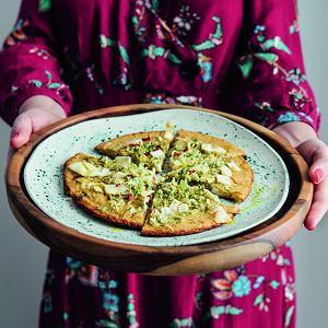 Farinata z brukselką i papryczką chili