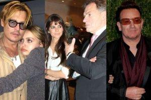 Johnny Depp, Lily Rose. weronika Rosati, Weronika Rosati, Dariusz Rosati, Bono