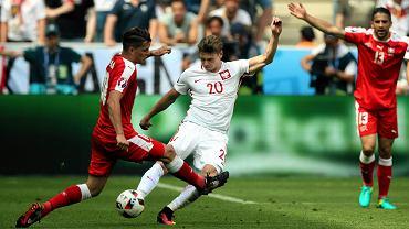 Łukasz Piszczek podczas meczu Polska-Szwajcaria