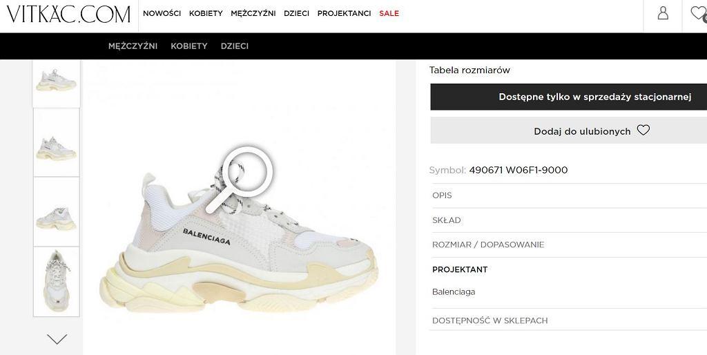Buty Balenciaga na stronie Vitkaca