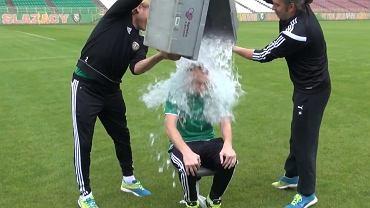 Sebastian Mila, piłkarz Śląska Wrocław i reprezentacji Polski, wziął udział w akcji Ice Bucket Challenge