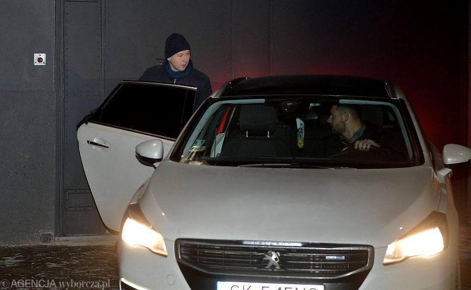 Były szef KNF Marek Chrzanowski wychodzi z aresztu, 26 stycznia 2019.