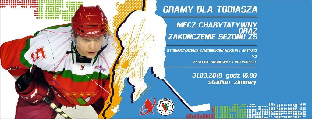 Plakat promujący mecz dla Tobiasza Benata