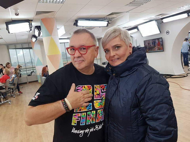 Beata Piworowicz z Jurkiem Owsiakiem (fot. archiwum prywatne)