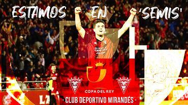 CD Mirandes w półfinale Pucharu Króla