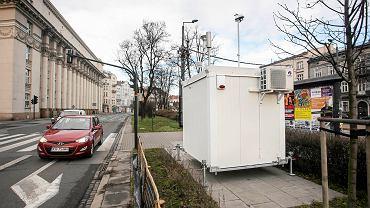 Stacja kontroli zanieczyszczenia powietrza na zbiegu ulic Dietla i Wielopole
