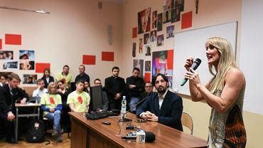Aktywistka antyaborcyjna Rebbeca Kiessling podczas spotkania na krakowskim Uniwersytecie Papieskim organizowanego przez Ordo Iuris