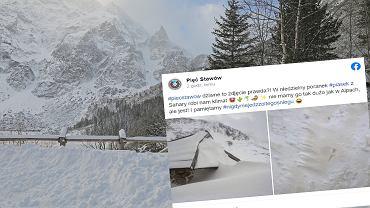 Nieve amarilla en las montañas Tatra