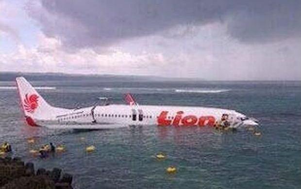 Samolot w wodzie