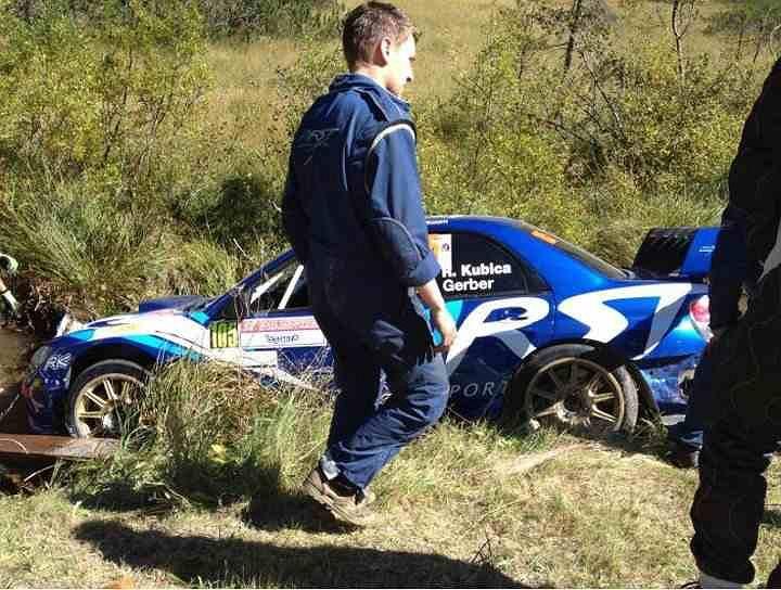 Robert Kubica i Jakub Gerber zaliczyli przygodę podczas odcinka testowego