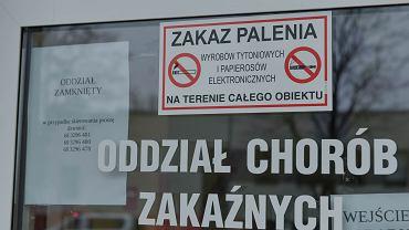 Zielona Góra , Szpital Uniwersytecki. Wejście do oddziału chorób zakaźnych