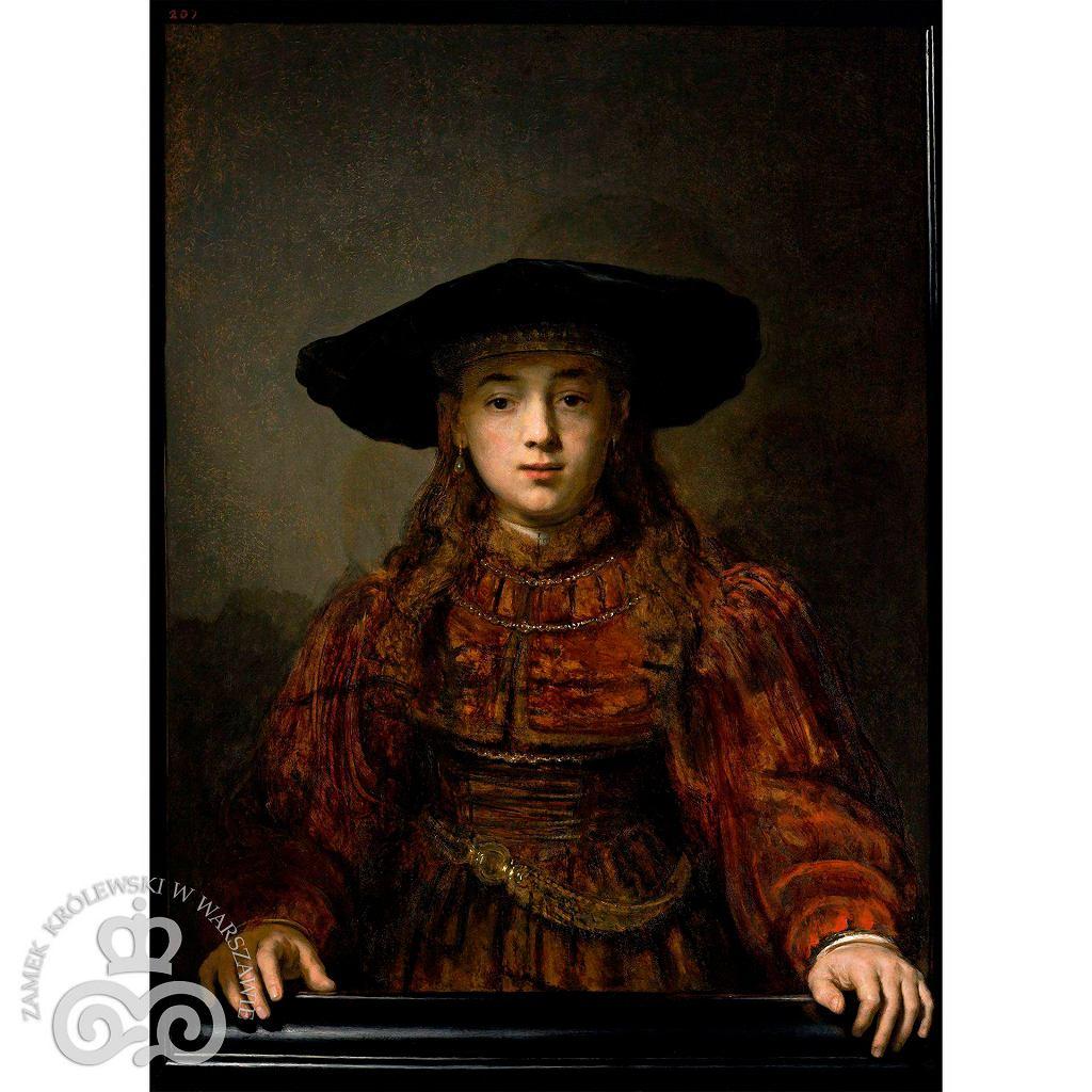 'Dziewczyna w ramie obrazu' / 'Dziewczyna w ramie obrazu'  Rembrandta/ZAMEK KROLEWSKI W WARSZAWIE