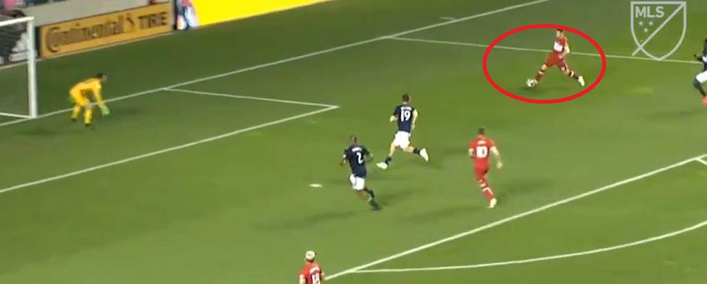 Przemysław Frankowski strzela pierwszego gola w nowym klubie