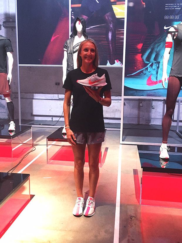 Paula Radcliffe na prezentacji butów Nike w Berlinie