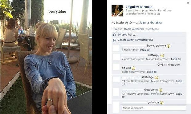 Zibi Bartman się zaręczył!