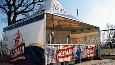 Namiot Bosmana na szczecińskim stadionie